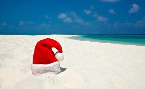 Flanby joue le père Noël aux Antilles
