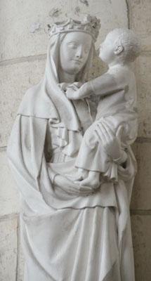 Notre Dame avec enfant (Eglise Sainte Colette de Corbie)