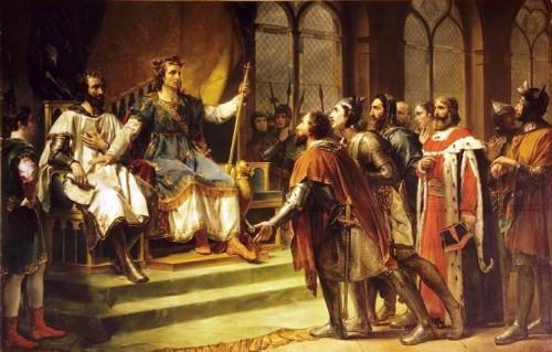 Rouget_-_Saint_Louis_médiateur_entre_le_roi_d'Angleterre_et_ses_barons_(23_janvier_1264)