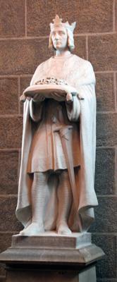 Saint Louis portant la couronne d'épin Cathédrale du Puy