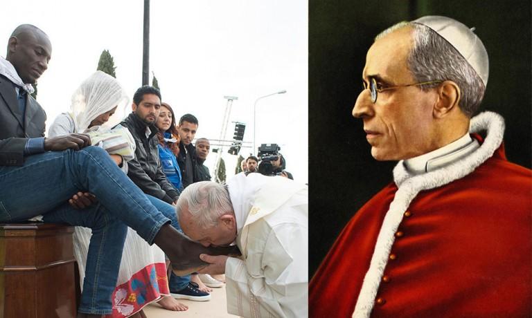 Deux papes, deux politiques, deux chiffres : 12 et 7000 (N° 110 de mai 1966)