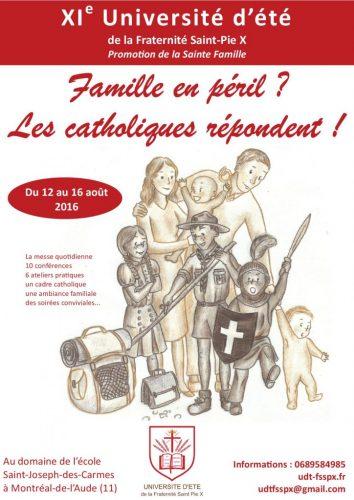 XIe université d'été de la Fraternité Saint-PieX