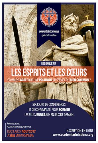 UDT 2017 d'Academia Christiana à Sées en Normandie (21 au 27 août)