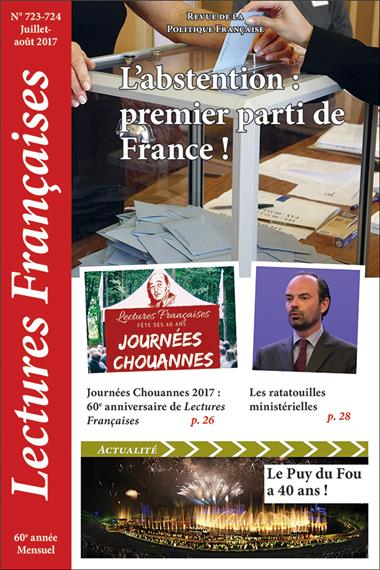 N° 723-724 – Juillet et août 2017 : L'abstention : premier parti de France