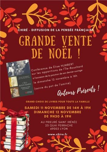 11-12 novembre : vente de Noël à Lyon