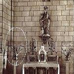 Lieu de l'apparition figuré dans l'ovale église de L'Île-Bouchard