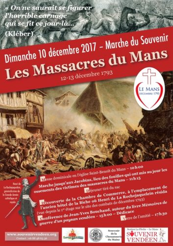 Dimanche 10 décembre au Mans, Marche du Souvenir «Les Massacres du Mans».