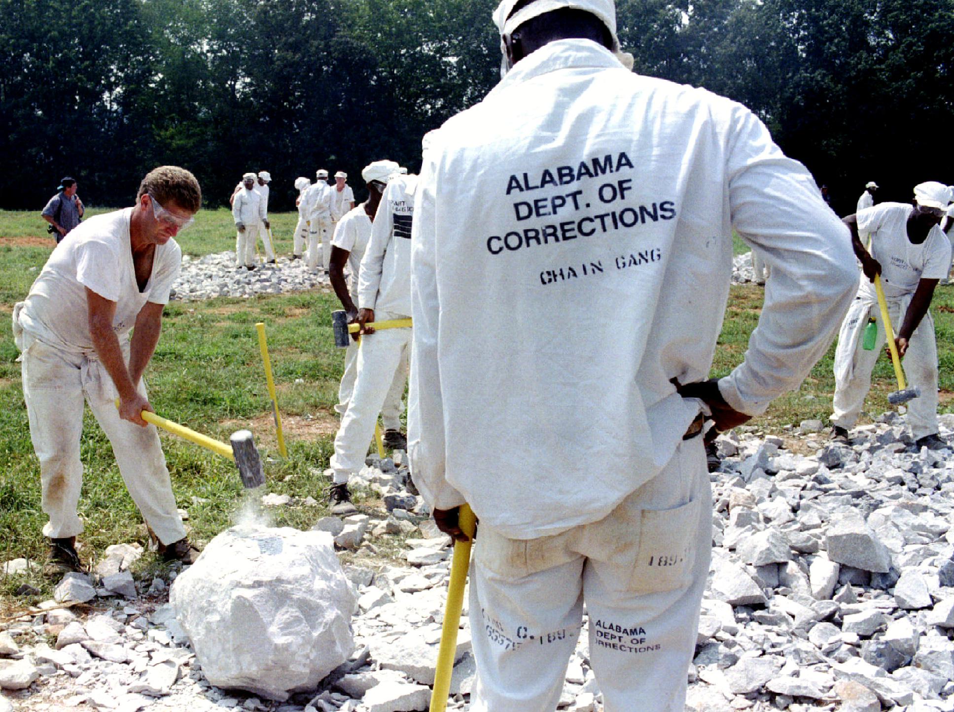 """Un des fameux """"chain gang"""" d'Alabama"""