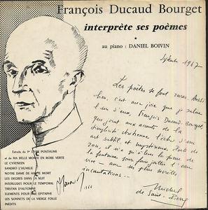 Mgr François DUCAUD-BOURGET fut aussi un poète