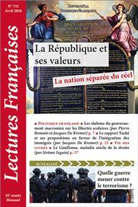 N° 732 – avril 2018 : La République et ses valeurs : la nation séparée du réel