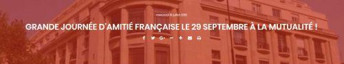 Grande journée d'amitié française de l'AGRIF (Paris, 29 septembre 2018)
