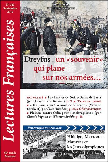 N° 749 – Septembre 2019: Dreyfus: un «souvenir» qui plane sur nos armées