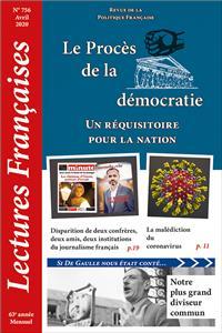 N° 756 – Avril 2020 : Le Procès de la démocratie : un réquisitoire pour la nation