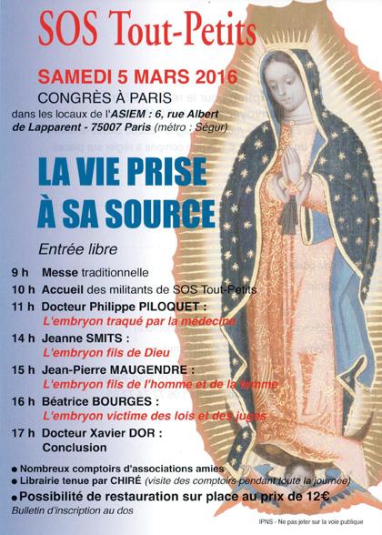 Congrès de SOS Tout-Petits