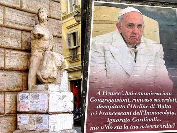 Pasquinate : retour d'une tradition contestataire à Rome
