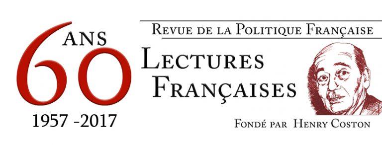 Il y a soixante ans, naissait Lectures Françaises