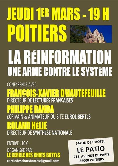 La réinformation : une arme contre le système (Poitiers, 1er mars 2018)